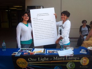 Members of the Baha'i student association participated in UTEP's International Day of Peace organized by the Religious Studies Program. (Edwin Delgado/Borderzine.com)
