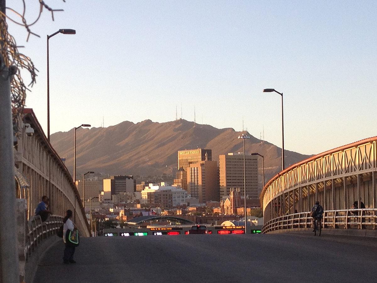 Downtown El Paso as seen from the Paseo del Norte International Bridge. (Sergio Chapa/Borderzine.com)