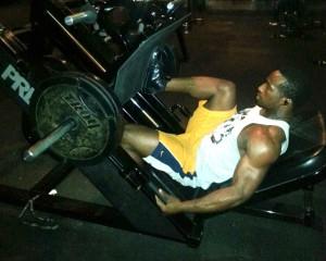 "Johne at the gym on ""leg day"". (Cristina Quinones/Borderzine.com)"