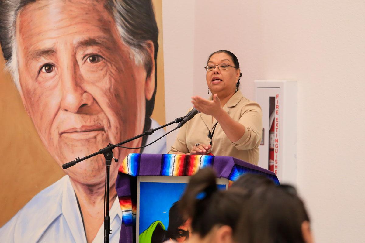 Estela Reyes López from La Fe. (Aaron Montes/Borderzine.com)