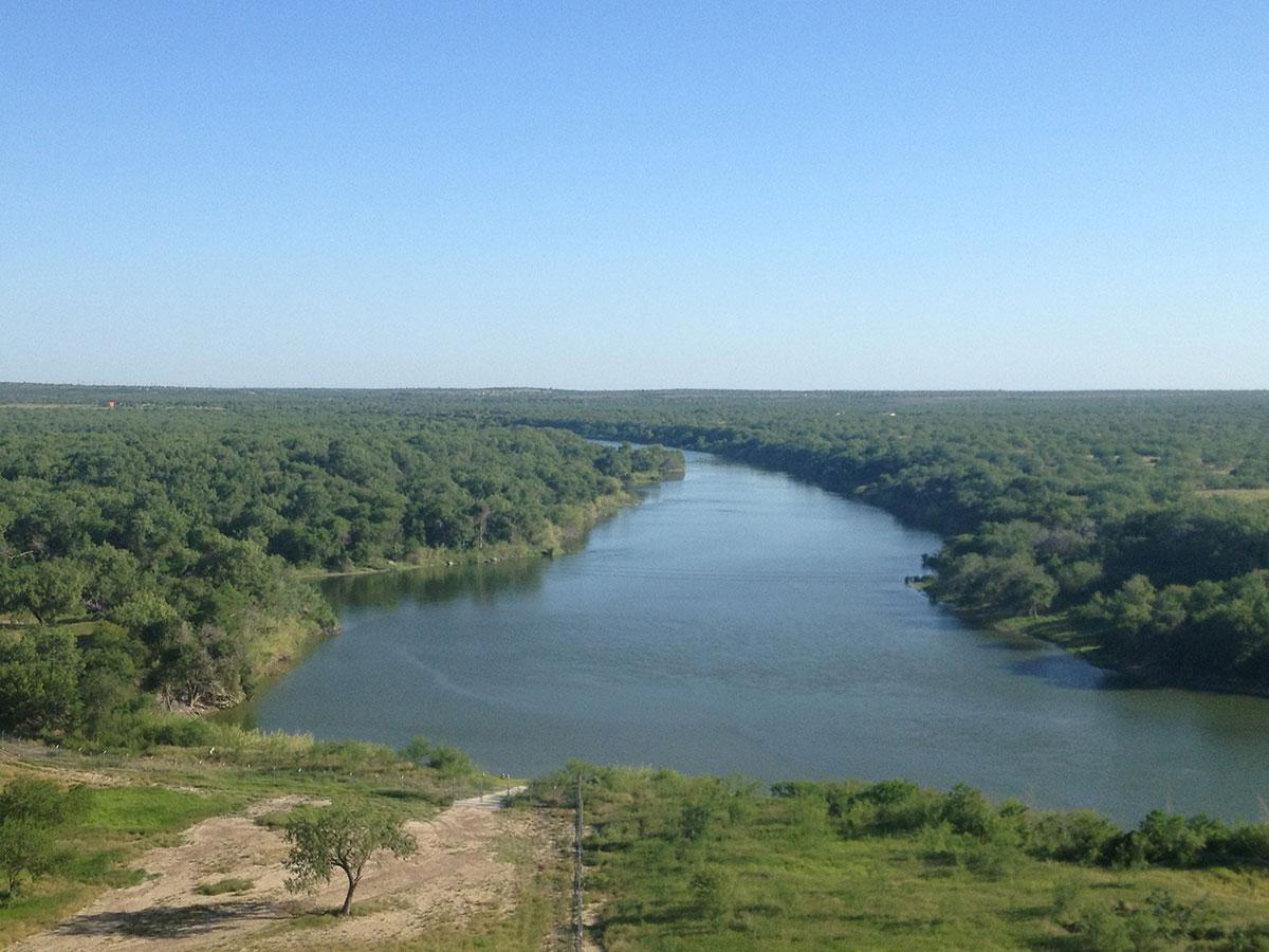 The Rio Grande River at the foot of Falcon Dam. (Sergio Chapa/Borderzine.com)