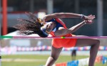 Track athlete Tako-Khady Niare. (Michael P. Reese, courtesy of UTEP Athletics)