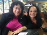 "With legendary newspaper editor Diana ""Didi"" Fuentes, who now lives in Del Rio. (Sergio Chapa/Borderzine.com)"