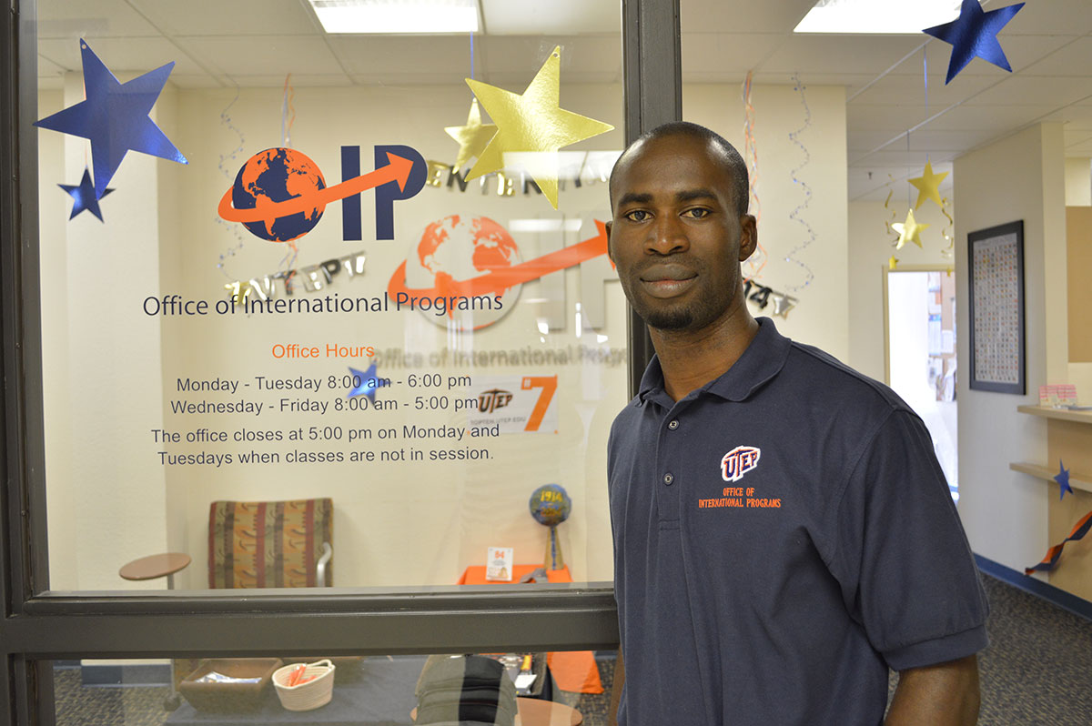 Ebenezer Anom is one of about just one hundred students from Africa at UTEP. (Vianey Alderete/Borderzine.com)