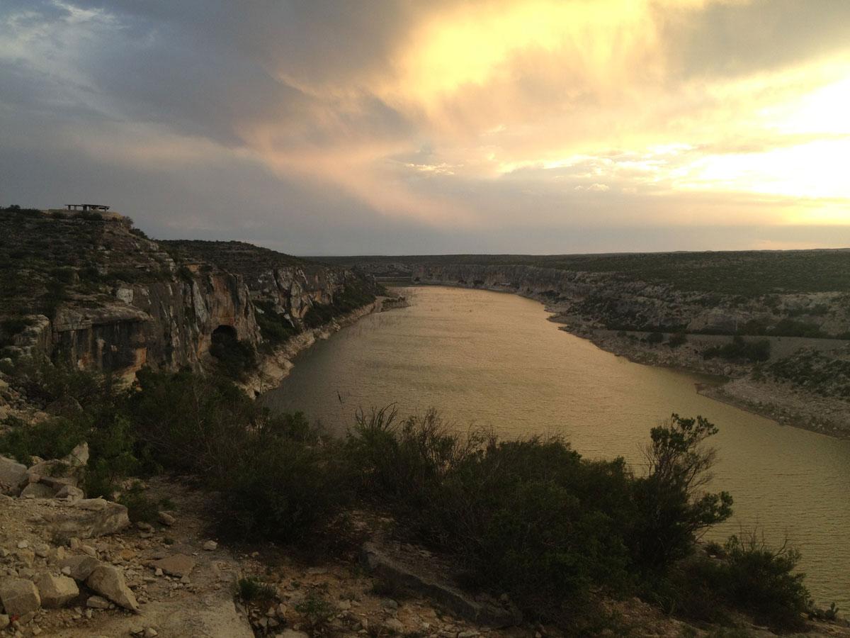 The Pecos River empties into the Rio Grande River. (Sergio Chapa/Borderzine.com)