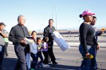 Msgr. Arturo Bañuelas marches along the border highway as part of the procession for the Day of the Dead organized by the Border Network for Human Rights. (Edwin Delgado/Borderzine.com)