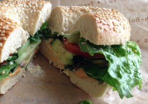A veg-out sandwich from Einstein Brothers. (Velia Quiroz/Borderzine.com)