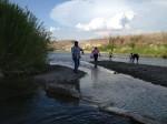 An American family enjoying the Rio Grande River at Big Bend National Park. (Sergio Chapa/Borderzine.com)