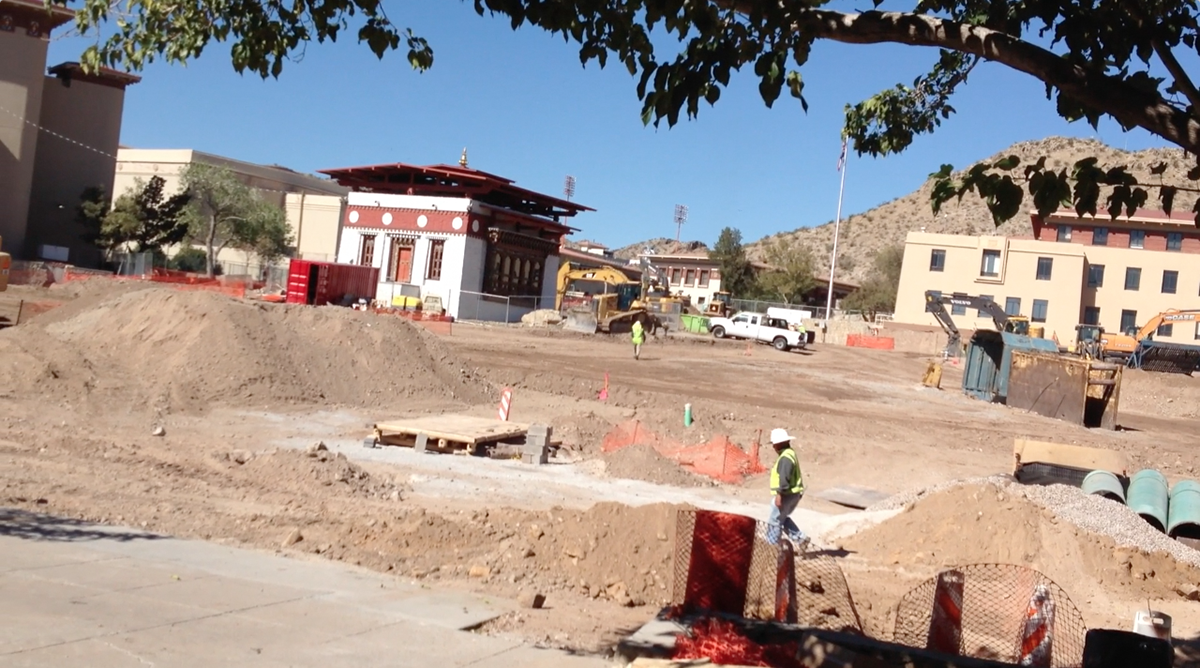 Centennial Plaza will be located in the middle of UTEP campus and includes a Lhakhang, a gift from the Kingdom of Bhutan. (Nora Rausch/Borderzine.com)