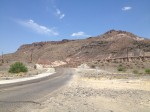 Green and manicured lawns return to desert landscapes while leaving Lajitas. (Sergio Chapa/Borderzine.com)