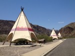 Scenic rest stop on FM 170 just west of Lajitas. (Sergio Chapa/Borderzine.com)
