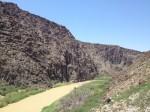 The Rio Grande River is a narrow and muddy band along FM 170. (Sergio Chapa/Borderzine.com)