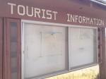 Not much tourist information at this kiosk in Presidio, Texas. (Sergio Chapa/Borderzine.com)