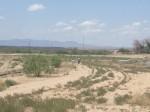 Walking along the border in Presidio, Texas. (Sergio Chapa/Borderzine.com)