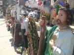 Statues of narcosaints San Judas Tadeo and and Malverde for sale. (Sergio Chapa/Borderzine.com)