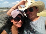A quick pickture on the Presidio-Ojinaga International Bridge. (Sergio Chapa/Borderzine.com)