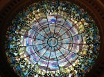 Glass dome inside the Camino Real Hotel. (Sergio Chapa/Borderzine.com)