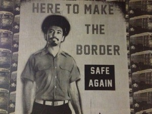 Here to make the border safe again. (Sergio Chapa/Borderzine.com)