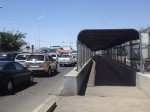 Heavy traffic at the Bridge of the Americas. (Sergio Chapa/Borderzine.com)
