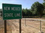 The New Mexico state line. (Sergio Chapa/Borderzine.com)
