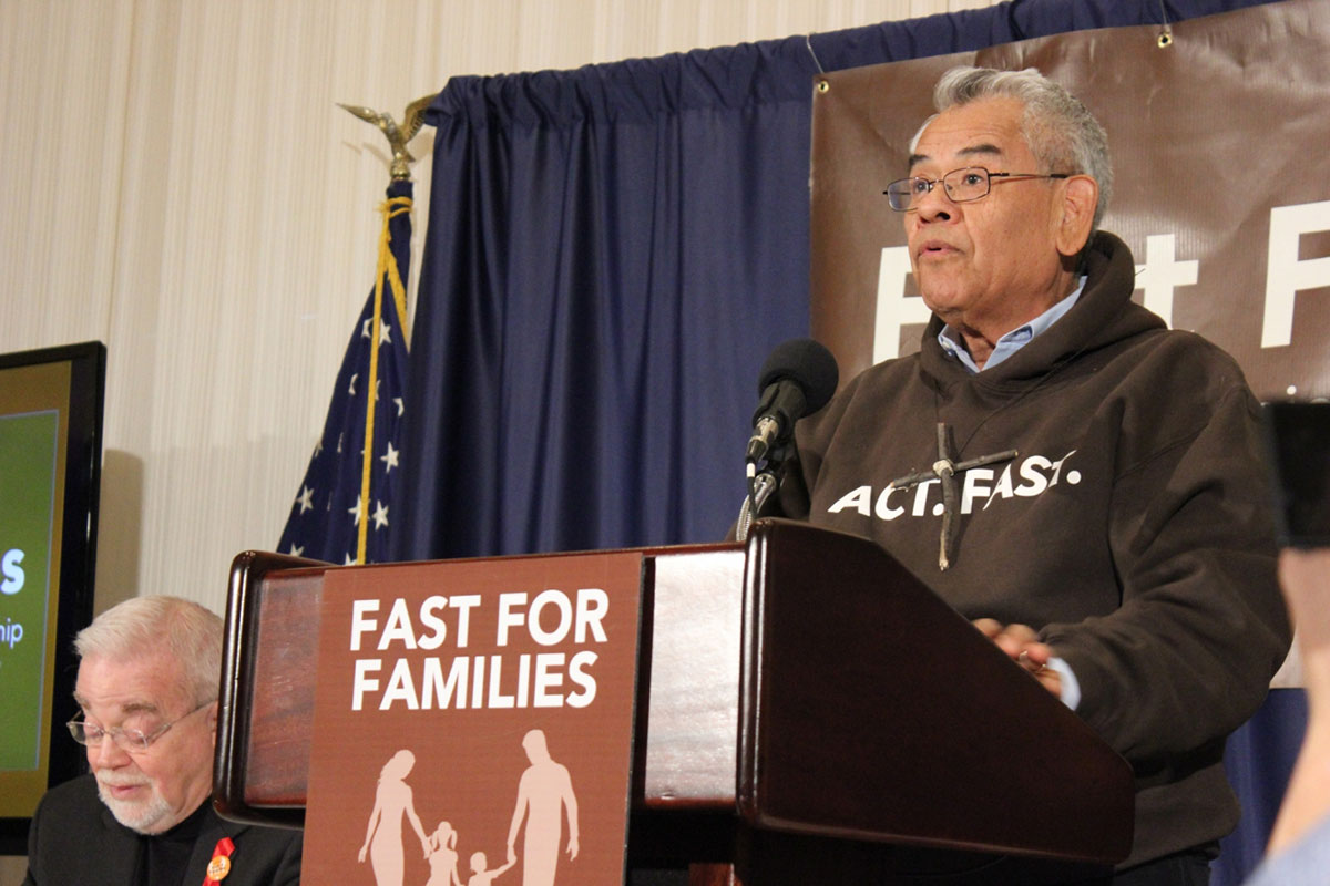 Eliseo Medina, international secretary-treasurer for the Service Employees International Union, says Fast for Families will visit more than 100 key congressional districts where the group will invite people to join him and others in the fast. (Alejandro Alba/SHFWire)