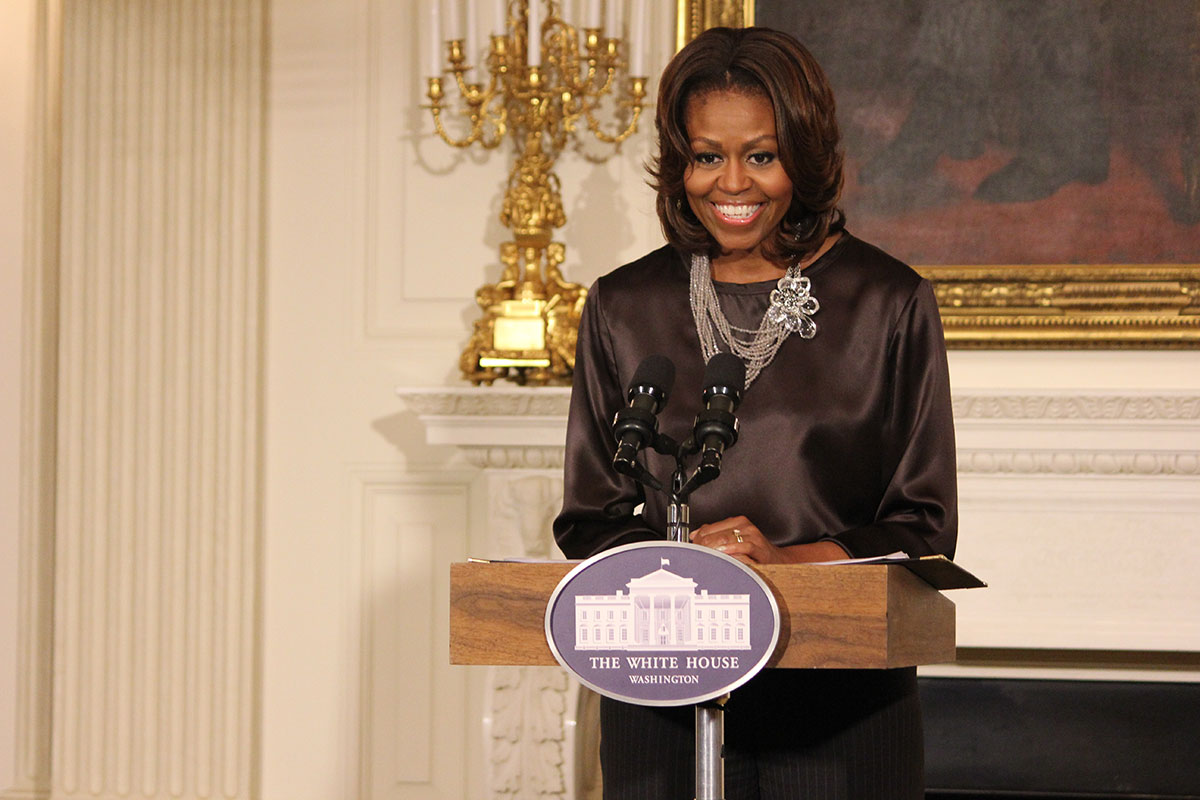 President Barack Obama and the first lady have been discussing education recently. (Alejandro Alba / SHFWire)