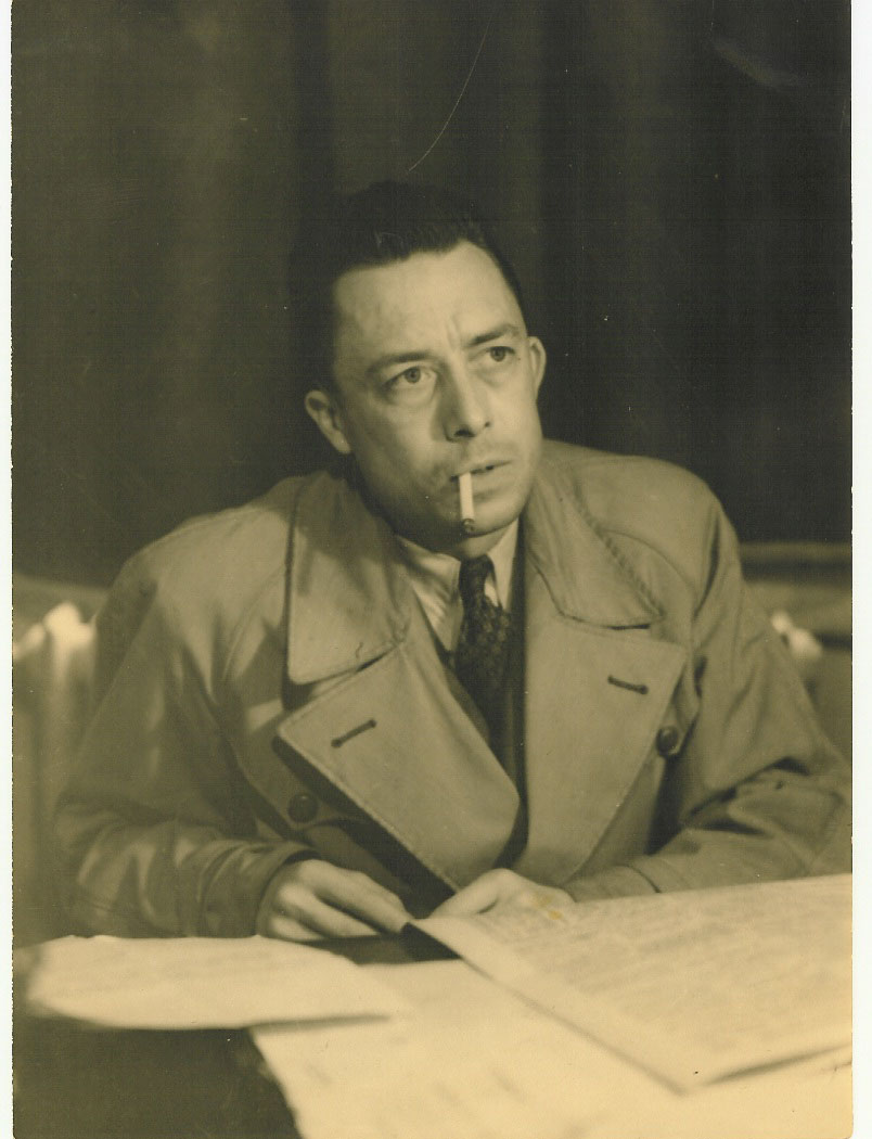 Alber Camus in 1957. (©Robert Edwards, via Wikimedia Commons)