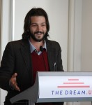 "Diego Luna, a Mexican actor and director of the new film, ""Cesar Chavez,"" speaks about his support for DREAMers and says how they are part of American history. (Alejandro Alba/SHFWire)"
