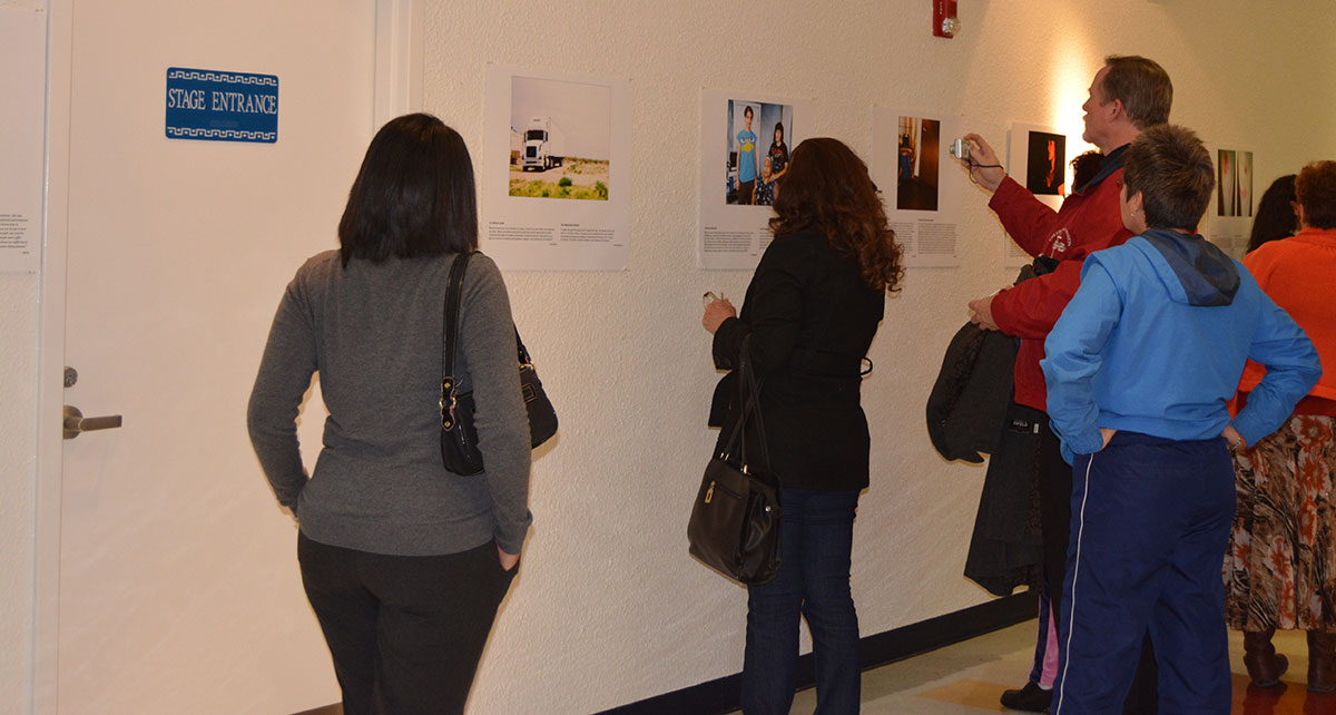 Voices and Images of Migrant Women, exhibit opened at the end of January at Centro De Salud Familiar La Fe's Cultural Center in El Paso. (Christy Ruby/Borderzine.com)