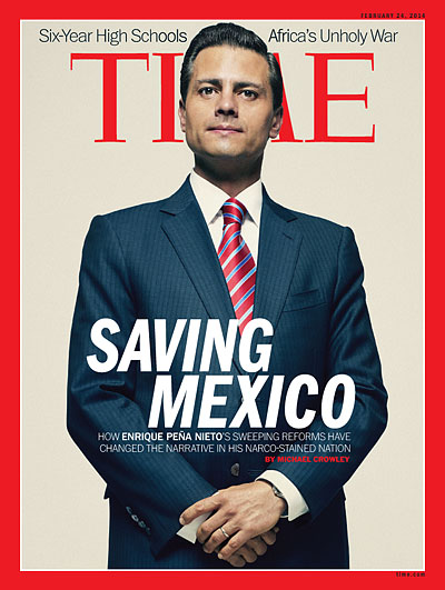 Original Time magazine cover with Mexican President, Enrique Peña Nieto.