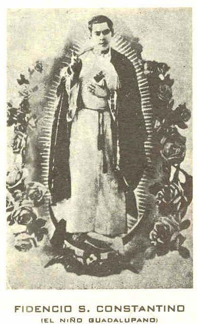 Estampita del Niño Fidencio a la usanza de la Iglesia Católica.
