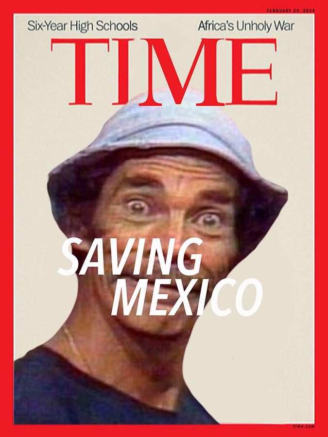 Don Ramon from TV program El Chavo del Ocho. (Illustration by Luis Hernández/Borderzine.com)