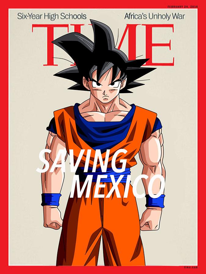 Son Goku de Dragon Ball Z. (Illustration by Luis Hernández/Borderzine.com)