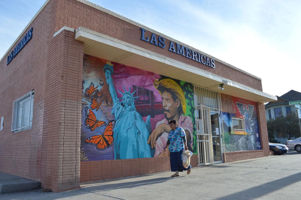 Las Americas, a non-profit immigrant advocacy center that has helped immigrants since 1987. (Vianey Alderete/Borderzine.com)