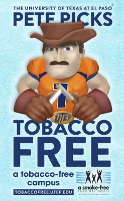 UTEP tobacco-free campus sign