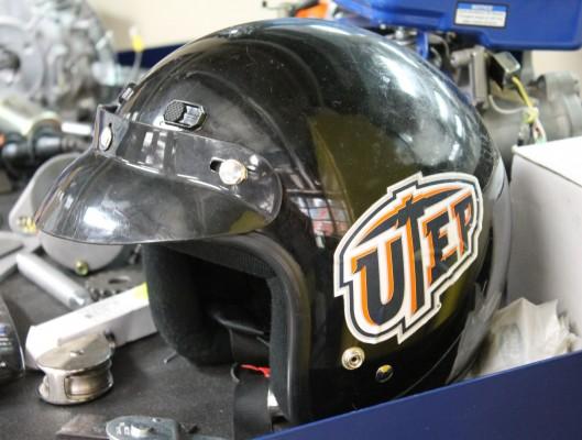 Helmet utep logo