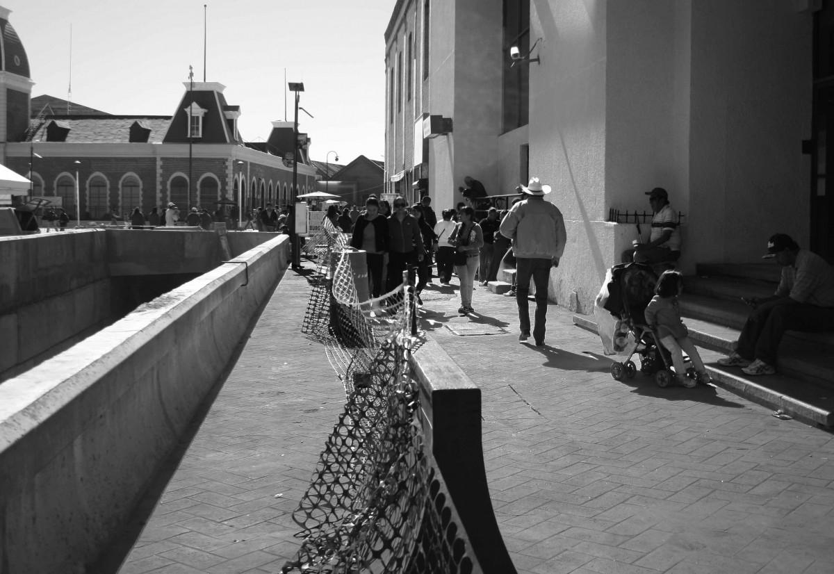 El reciente Plan de Movilidad Urbana (PMU), actualmente en proceso, ha convertido a las calles del primer cuadro de la ciudad en trampas mortales para los peatones, especialmente para la comunidad de invidentes. (Jazmín Cano/Borderzine.com)