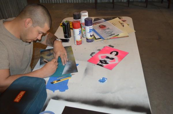 Artist at Work Santiago Sepeda