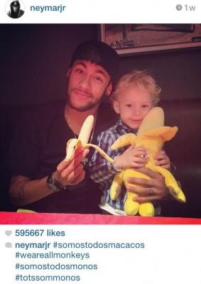 Neymar Posts Selfie With Son