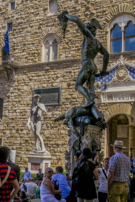 Perseo and Medusa at the Medici Ricardi Palace in Florence. Photo credit: David Smith-Soto.