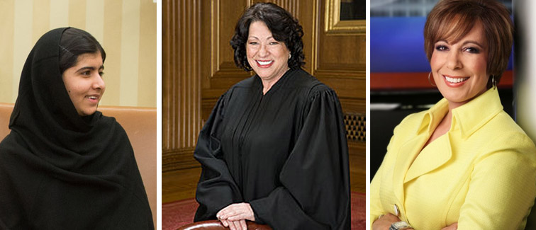 Real role models for women include activist Malala Yousafzai, U.S. Supreme Court Justice Sonia Sotomayor and broadcast journalist Estela Casas.