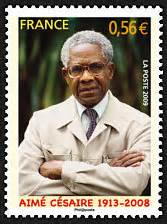 Most Americans might not have heard of Martinican leader Aimé Cesaire, but even his former adversary France today honors him with a postage stamp.