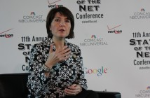 Rep. Cathy McMorris Rodgers, R-Wash., tells the State of the Net Conference about the recently launched congressional Diversifying Technology Caucus. SHFWire photo by Joe Mussatto