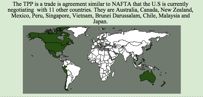 PiktoChart graphic by Maria Esquinca showing countries in the TPP