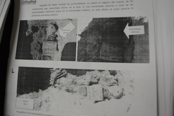 Forensic file of where Reyna's sons' bodies were found.