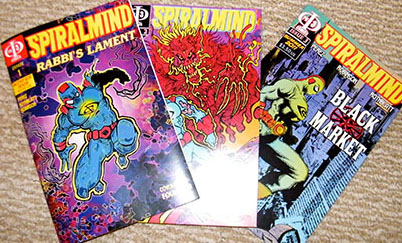 The first three issues of Spiralmind by Phi3 Comics.