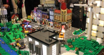 Denmark donated this Lego city that demonstrates the uses and problems of water. The city has a windmill and an energy plant next to a river full of fish. The display was part of an exhibit held after Tuesday's White House Water Summit. SHFWire photo by Luke Torrance