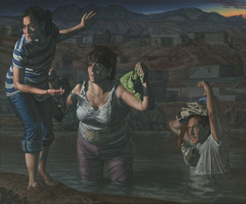 """La Guia"" (""The Guide"") by Rigoberto A. Gonzalez. Photo courtesy of Smithsonian's National Portrait Gallery"