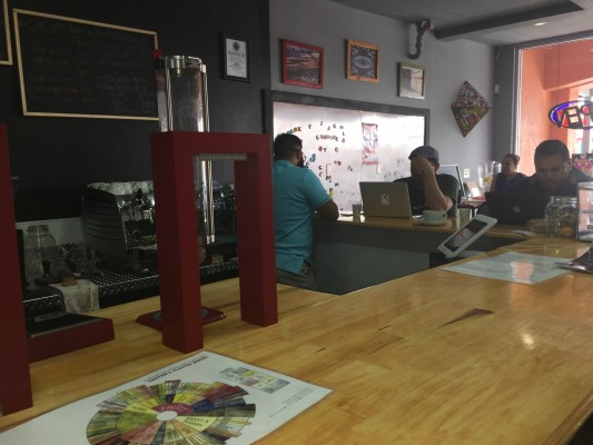 Kopi Coffee, located at 205 Cincinnati Ave., is one of the newest businesses in the Cincinnati entertainment district. Photo credit: Jose Soto