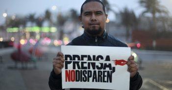 La prensa se manifiesta en contra de la violencia contra su profesión.  Foto: Courtesia Felix Marquez, Cuartoscuro.com Photo credit: FOTO: FÉLIX MÁRQUEZ /CUARTOSCURO.COM